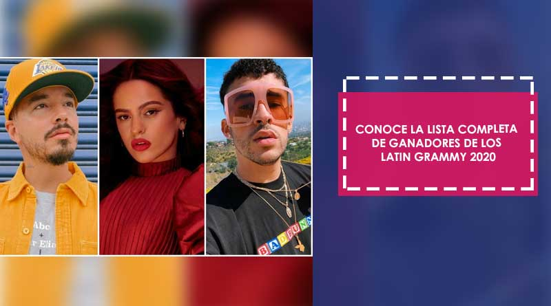 Conoce la lista completa de ganadores de los Latin Grammy 2020
