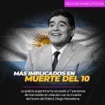 Siete acusados por la muerte del ícono del fútbol Diego Maradona