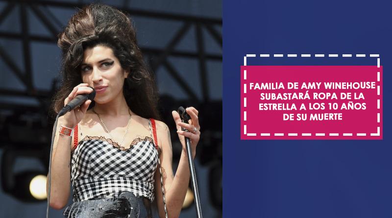 Familia de Amy Winehouse subastará ropa de la estrella a los 10 años de su muerte
