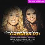 ¿Qué le regaló Selena Gómez a la Reina del Pop?