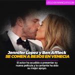 Jennifer Lopez y Ben Affleck se comen a besos en Venecia
