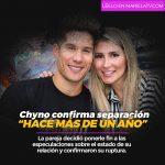 """Chyno Miranda confirma separación """"hace más de un año"""""""