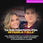 """""""Lo más importante Dios, mi familia y ella"""", Isaac Delgado"""