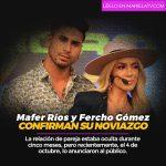 Mafer Ríos y Fercho Gómez confirman su noviazgo